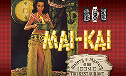 "Detail of the Mai-Kai book about the ""History & Mystery of the Iconic Tiki Restaurant."""