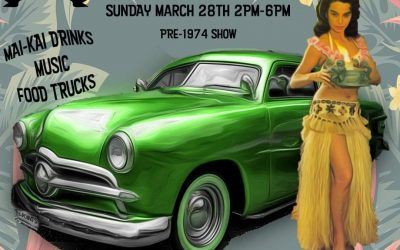 MAI-KAI CRUISE-IN CLASSIC CAR SHOW ON SUNDAY, MARCH 28 FROM 2 PM – 6 PM.